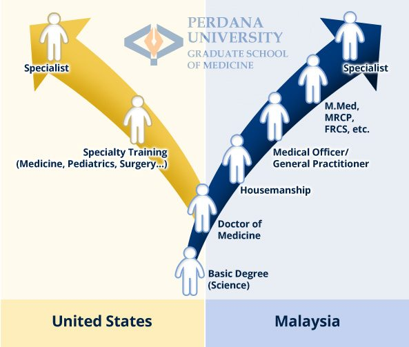 Career Pathway of Doctor of Medicine (MD) | Perdana University Graduate School of Medicine